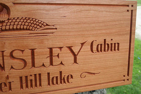Custom Cabin Signs, Custom Lake House Signs