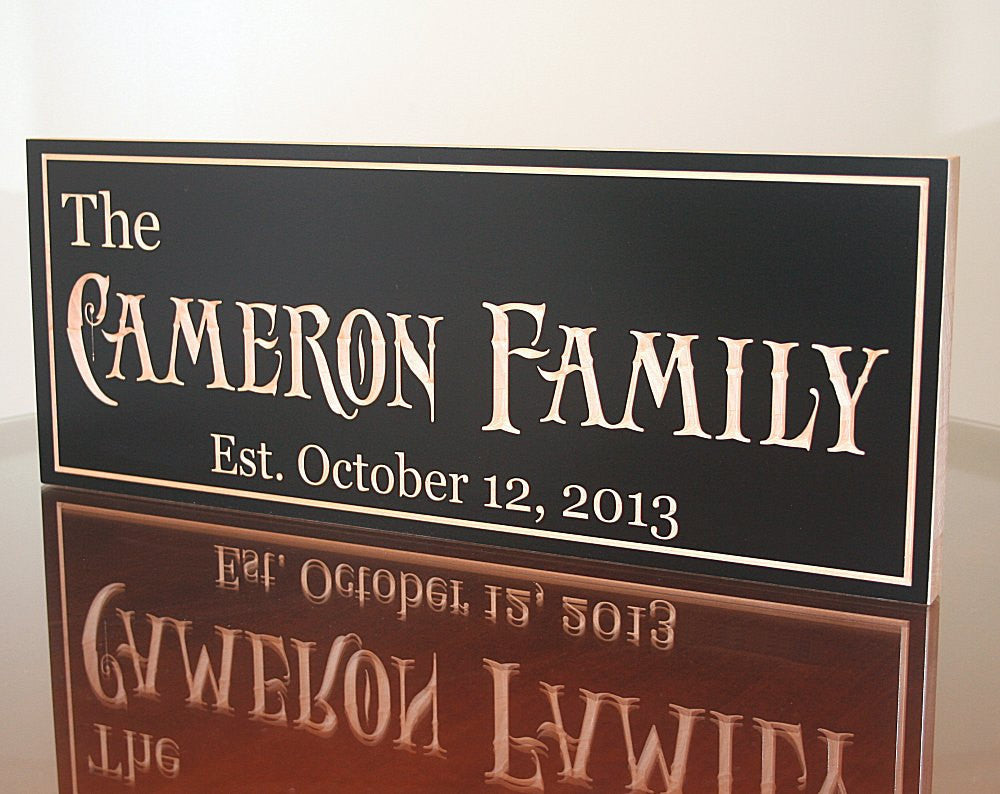 Custom Established Sign, Special Date Sign, Benchmark Custom Signs Maple AC