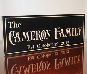 Custom Established Sign, Special Date Sign
