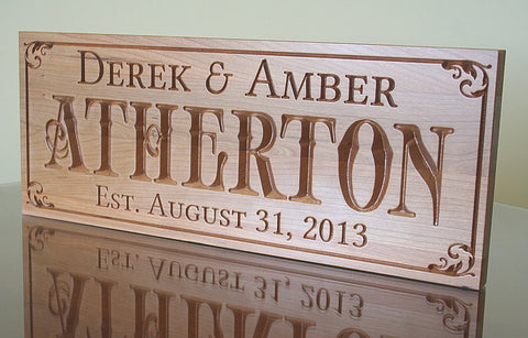 Custom Established Sign, Special Date Sign,  Benchmark Custom Signs Cherry BN