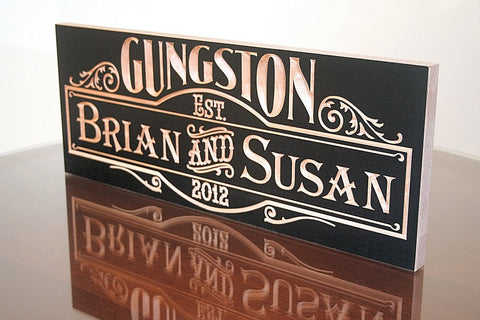 Custom Established Sign, Custom Last Name Sign
