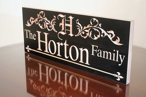 Custom Wooden Family Name Sign