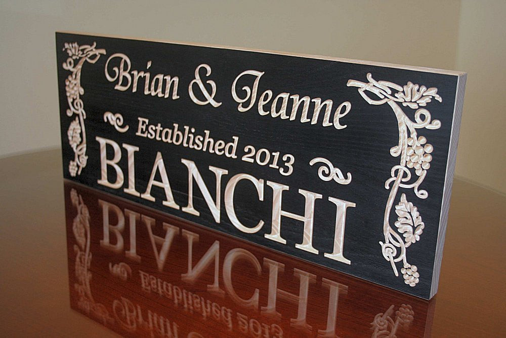 Custom Sign For Wedding Wedding Signage Personalized Family Sign Family Name Sign, Maple GP