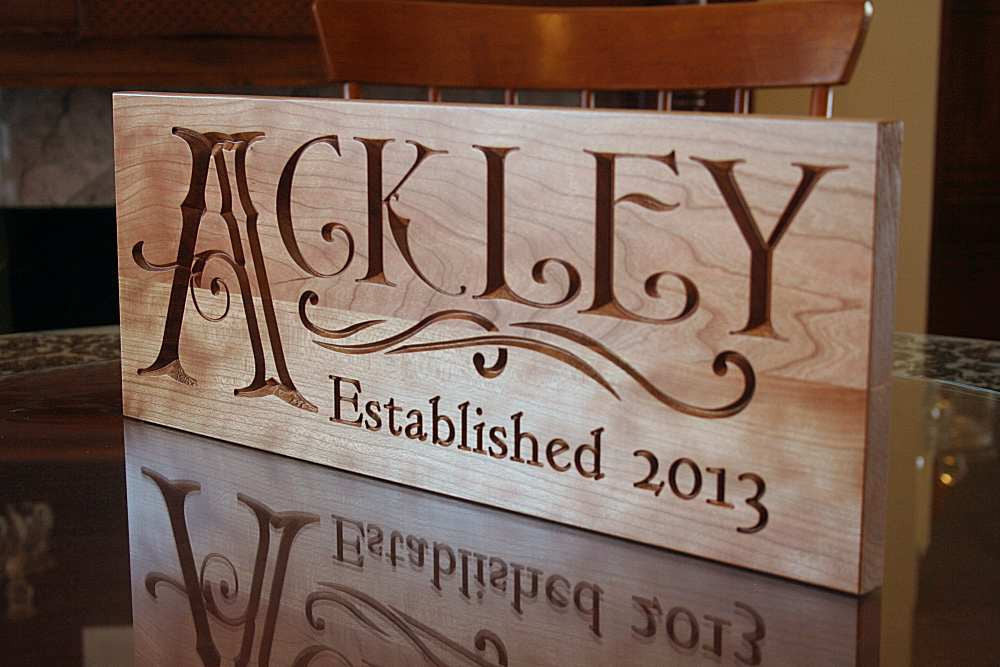 Family Established Sign Family Name Sign Personalized Family Name Sign Name Sign Wedding Signage Personalized Sign Cherry QQ