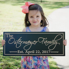 Family Name Established Sign Custom Wedding Sign Family Name Sign Personalized Name Sign 5yr Anniversary Gift Cabin Sign Maple OG