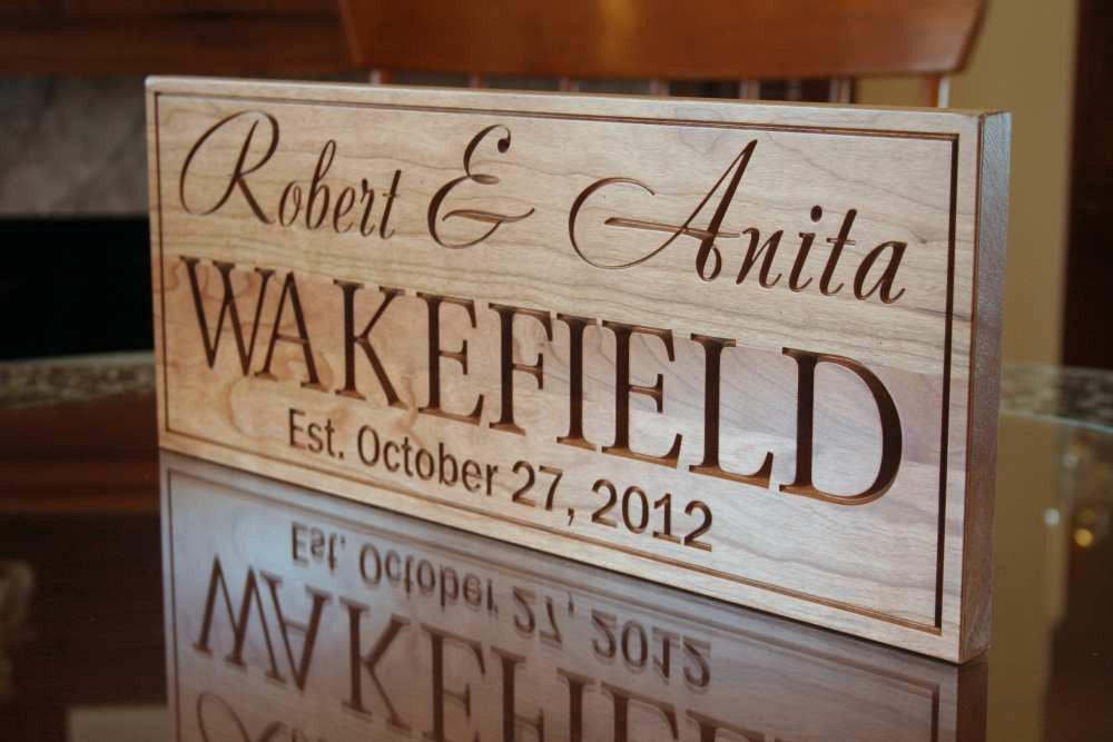 Family Name Sign, Last Name Established Sign, Benchmark Custom Signs Cherry XX