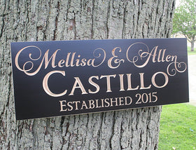 Family Name Wood Sign Personalized Family Name Sign Family Name Sign In Wood Custom Sign Custom Sign For Wedding Last Name Sign Maple GV