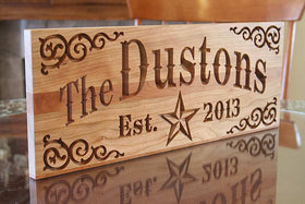Important Date Sign, Last Name Established Sign,  Benchmark Custom Signs Cherry SH
