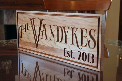 Important Date Sign, Last Name Established Sign, 5th Anniversary Sign,  Benchmark Custom Signs Cherry RY