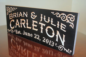 Last Name Sign, Custom Established Sign, Benchmark Custom Signs Maple CC
