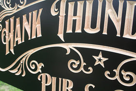 Personalized Beer Sign, Personalized Pub Sign, Benchmark Custom Signs Maple HT