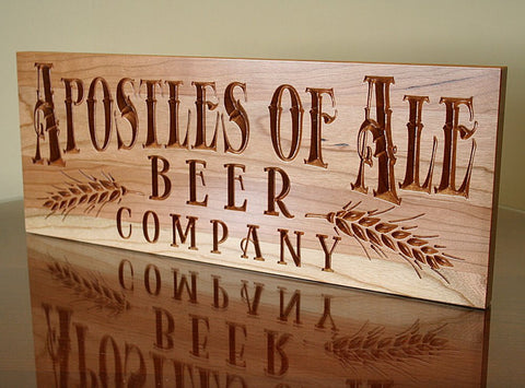 Personalized Beer Sign, Brewery Sign, Awesome Manly Gift, Carved Wooden Signs, Benchmark Custom Signs Cherry AL