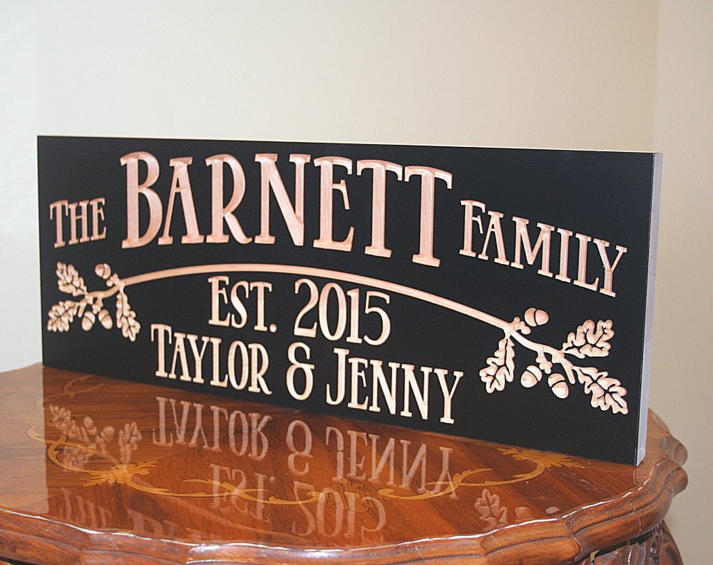 Personalized Cabin Signs, Custom Rustic Signs For Cabin, Benchmark Custom Signs Maple OB