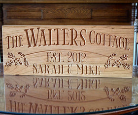 Personalized Cabin Signs, Rustic Family Established Signs, Benchmark Custom Signs Cherry OB