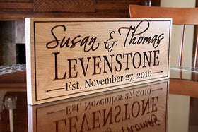 Personalized Family Established Sign