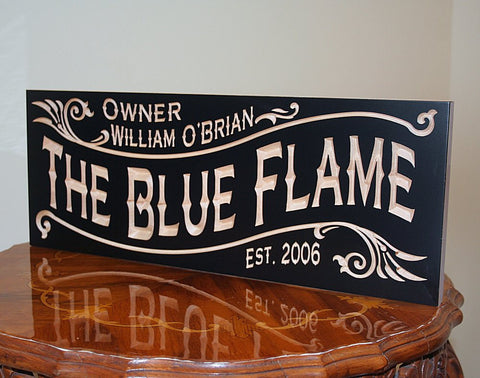 Personalized Home Bar Sign, Awesome Manly Gift, Boyfriend Gift Ideas, Benchmark Custom Signs Maple BG