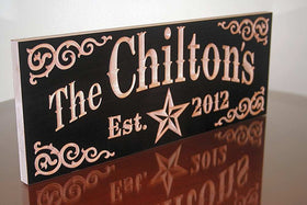 Personalized Wooden Family Name Sign