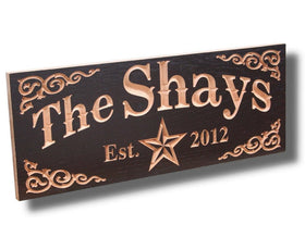 Personalized Wooden Family Name Sign, Personalized Marriage Sign, Benchmark Custom Signs Maple SH
