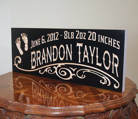 Rustic Baby Sign, Baby Name Sign Ideas, Baby Birth Sign, Custom Wooden Baby Sign, Maple FP