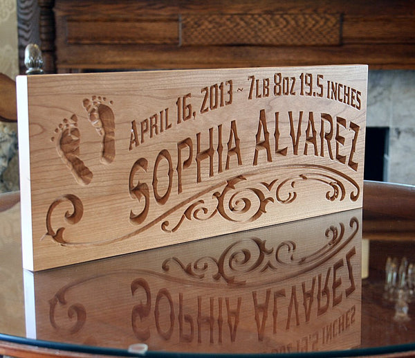Rustic Baby Sign, Baby Name Sign Ideas, Baby Birth Sign ...