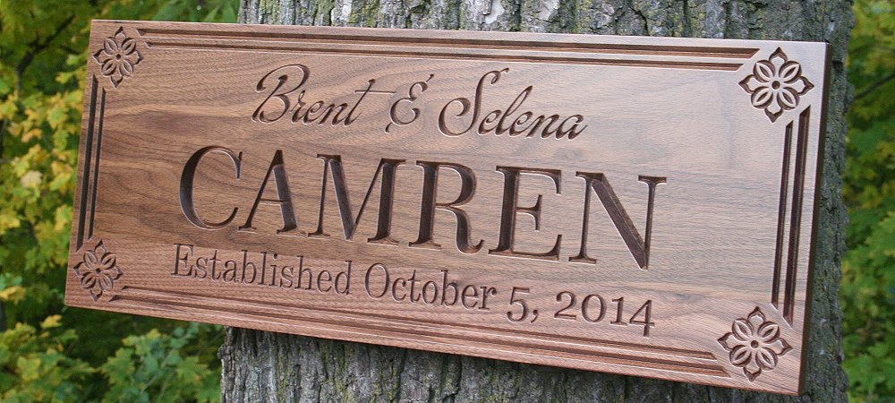 Brent & Selena Wood Sign