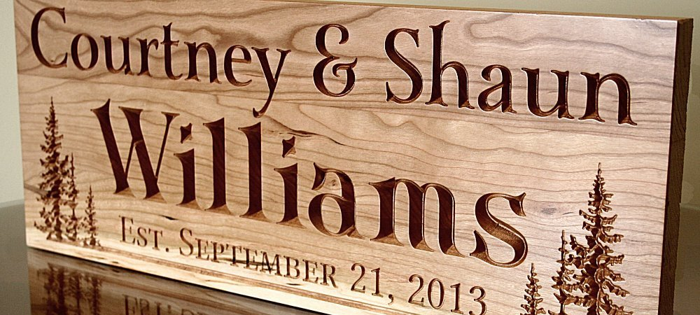 Large Personalized Cabin Sign