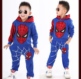 Spiderman kids Sports clothes Coat + Pants 2pcs