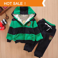 Boys Girls Sherpa Sports Jacket Sweater Coat & Pants