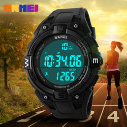 Sports / Outdoor,  Running,  Fitness,  Pedometer Digital Waterproof LED Wristwatch