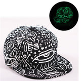 Graffiti  Hip Hop Fluorescent Baseball Cap