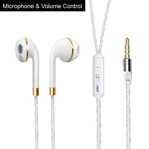 Sports Hands free Stereo Headphone For Apple Earpod Samsung