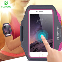 FLOVEME Durable Sports Running Waterproof Leather Arm Band Case For Smartphones