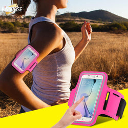Waterproof Running Sport Arm Band Leather Case For Smartphones