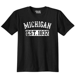 Michigan State USA American Black Men's T-Shirt