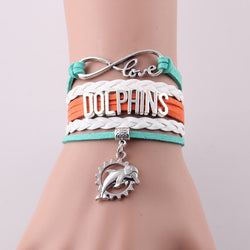 Infinity Love Dolphins Sports bracelet jewelry
