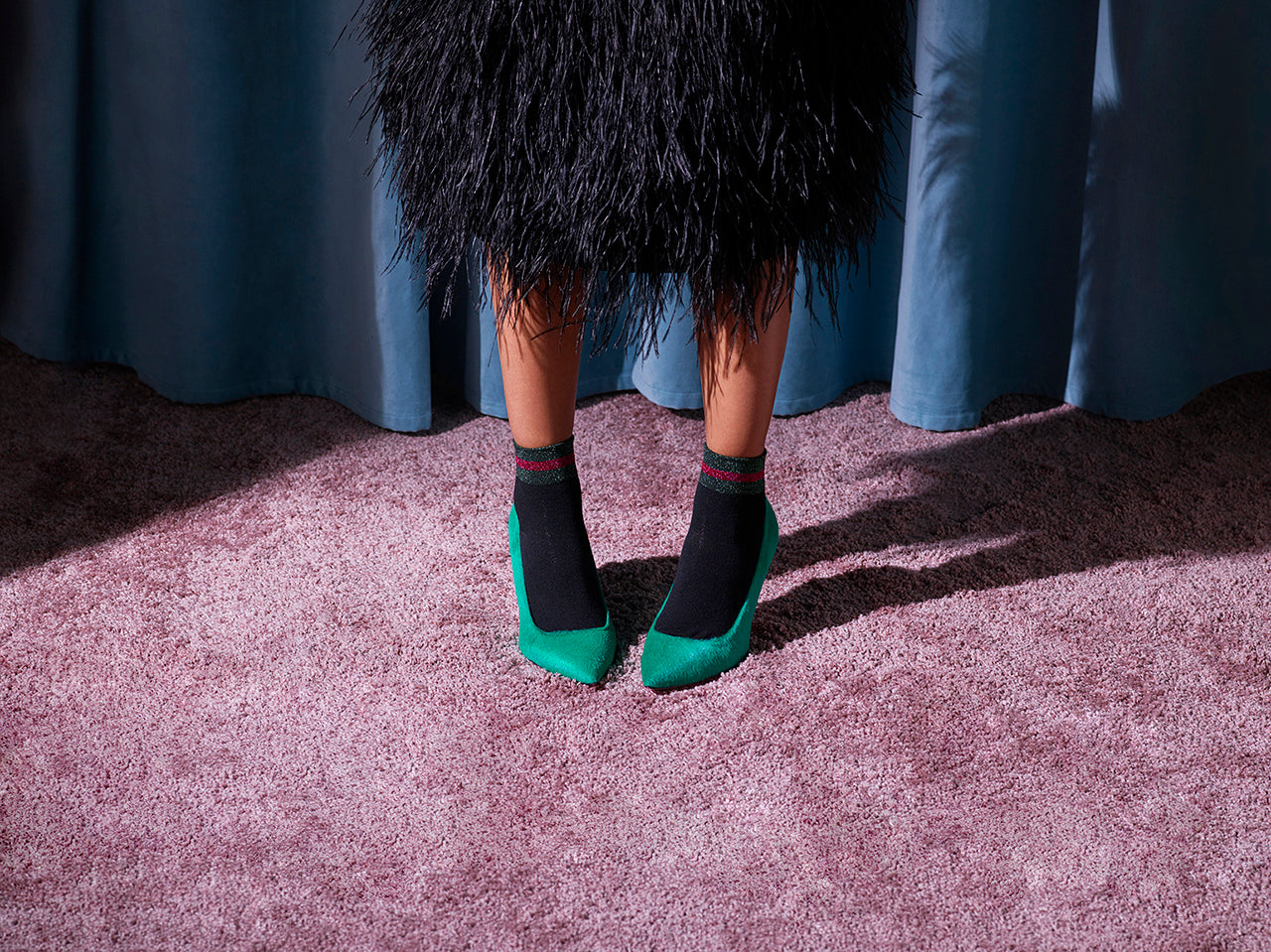 Phare slim heel pump in Malachite
