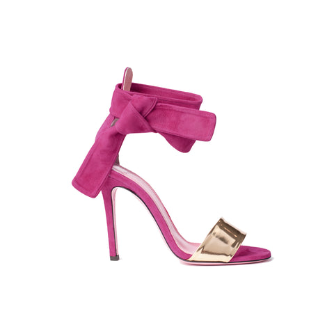 Phare Ankle tie stiletto in azalea suede