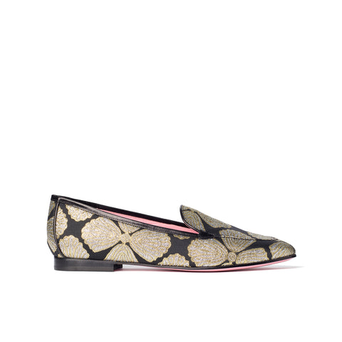 Phare classic loafer in metallic brocade
