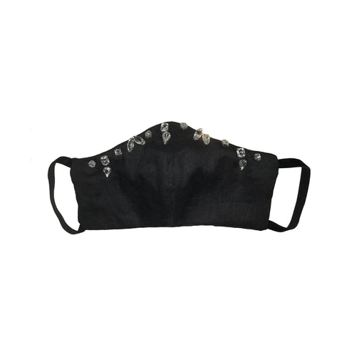Bejewelled Face Mask Black