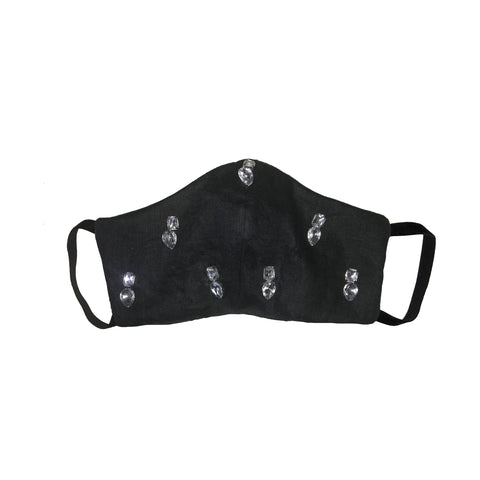 Jewelled Face Mask Black  2