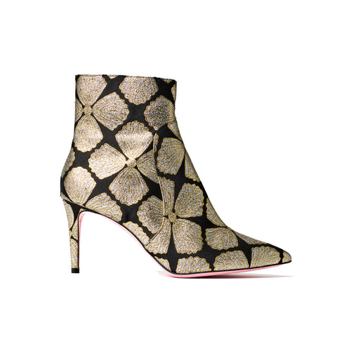 Phare Metallic brocade high heel boot
