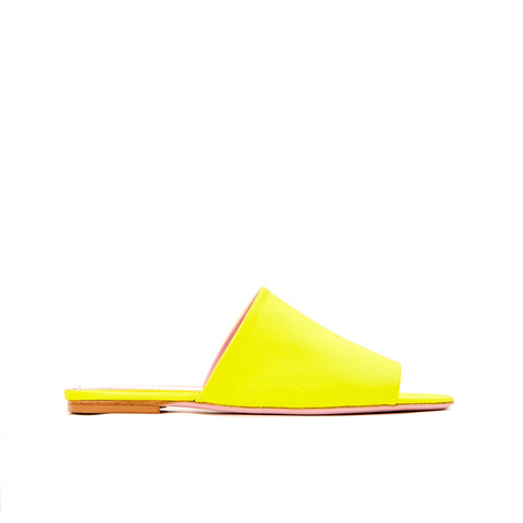 Phare seta slide in yellow silk satin