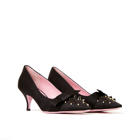 Studded Kitten Heel