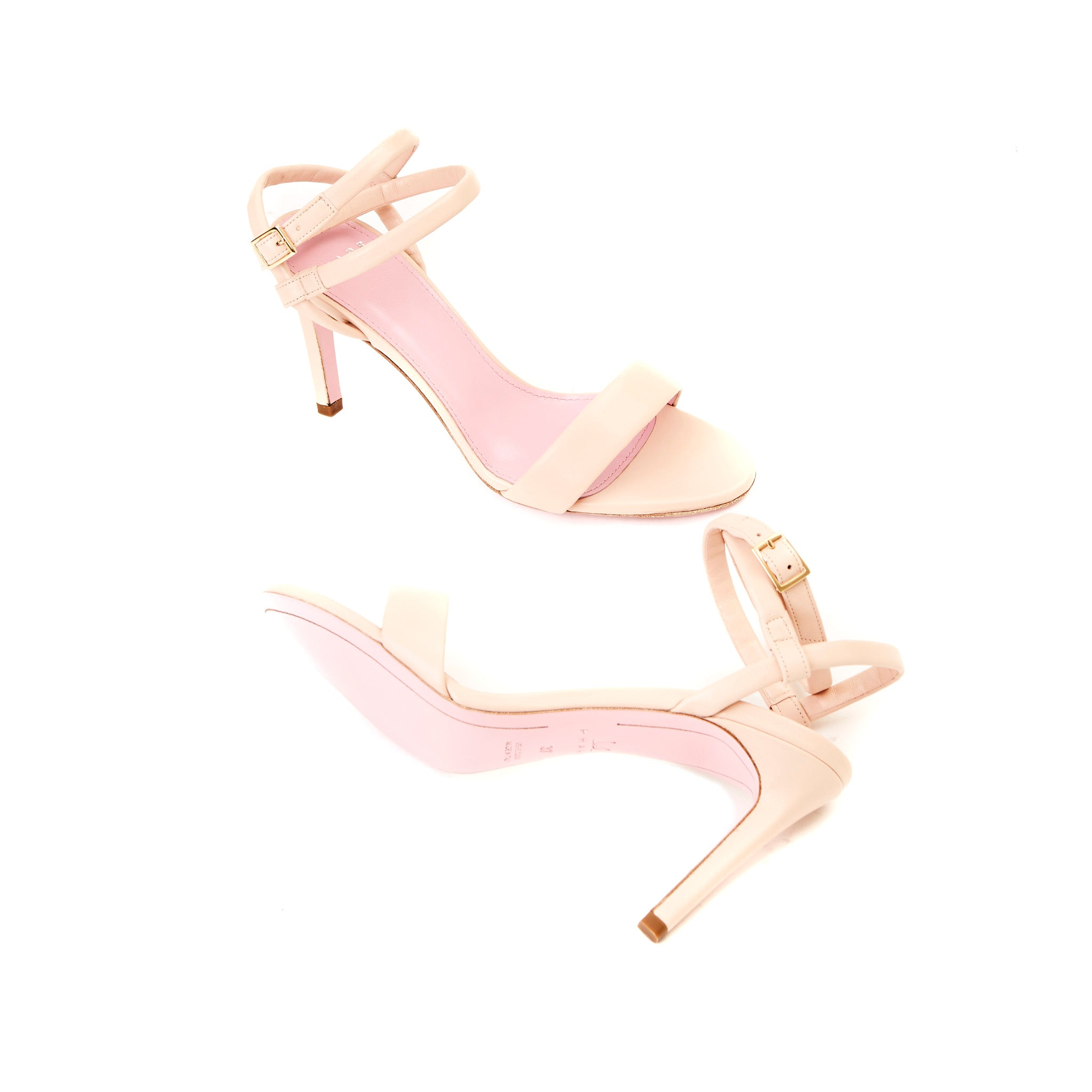Phare Wrap ankle strap high heel sandal in pelle leather sole view