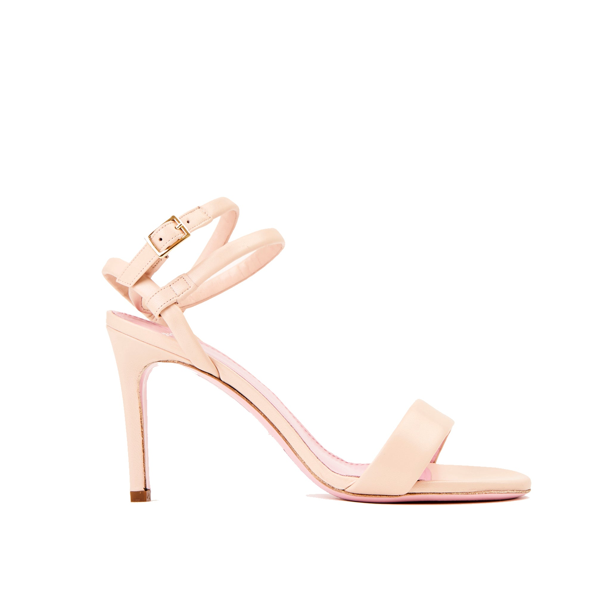 Phare Wrap ankle strap high heel sandal in pelle leather