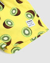 Kiwi print on yellow children's shorts