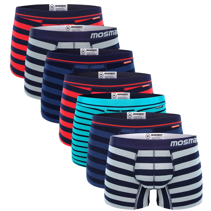 Men's 7 pack striped bamboo underwear