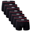 Men's 7 pack all black bamboo underwear