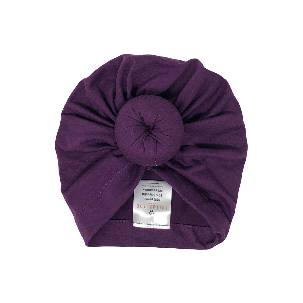 Top Knot Bonnet - Purple - Bullabaloo