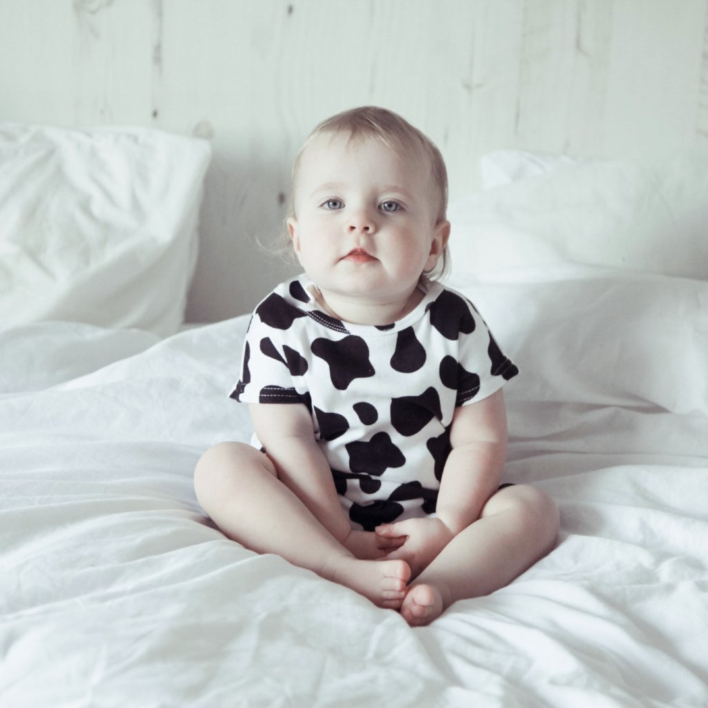 Cow Print Romper - Bullabaloo